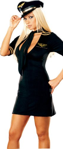 Dreamgirl - Mile High Captain Adult Costume - Medium - Black