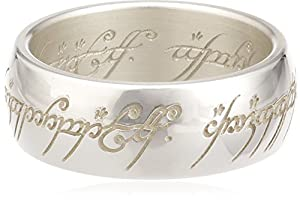 Lord of the Rings Sterling Silver The one Ring - Size O 1/2