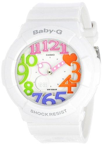Casio Women's BGA-131-7B3CR Baby-G Analog Display Quartz White Watch