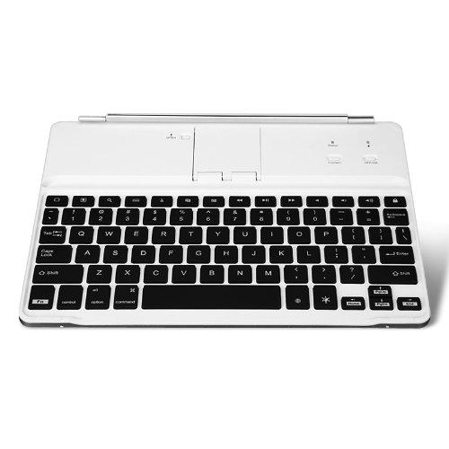 「iPad 用 ワイヤレス キーボード ー」カラフルなLEDバックライトを持ち オートスリープ機能搭載 軽量&コンパクト仕様、優れた対防水、防塵性&対衝撃性で機能性無線キーボード・Bluetooth・iOS 対応 for ipad2/new iPad/ipad 4 wireless bluetooth keyboardホワイト