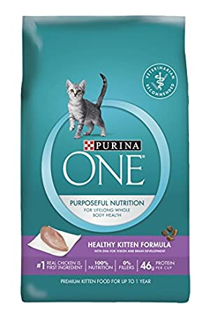 Purina ONE Dry Cat Food, Healthy Kitten Formula, 16-Pound Bag