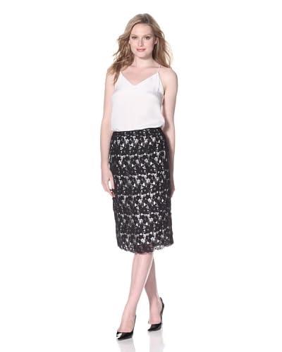 Zelda Women's Peg Lace Skirt  - Black