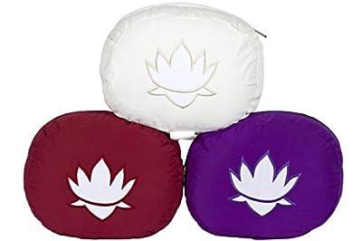 Meditationskissen / Yogakissen Lotus oval, B/T/H 28 x 23 x 13 cm, Bezug und Inlett 100% Baumwolle, Füllung: Buchweizenschalen, Bezug und Inlett maschinenwaschbar bis 30º C