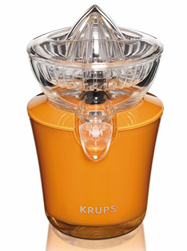 KRUPS ZX720K Electric Acrylic Citrus Juicer with Automatic Fruit Pressure Detection, Orange (Automatic Lime Juicer compare prices)