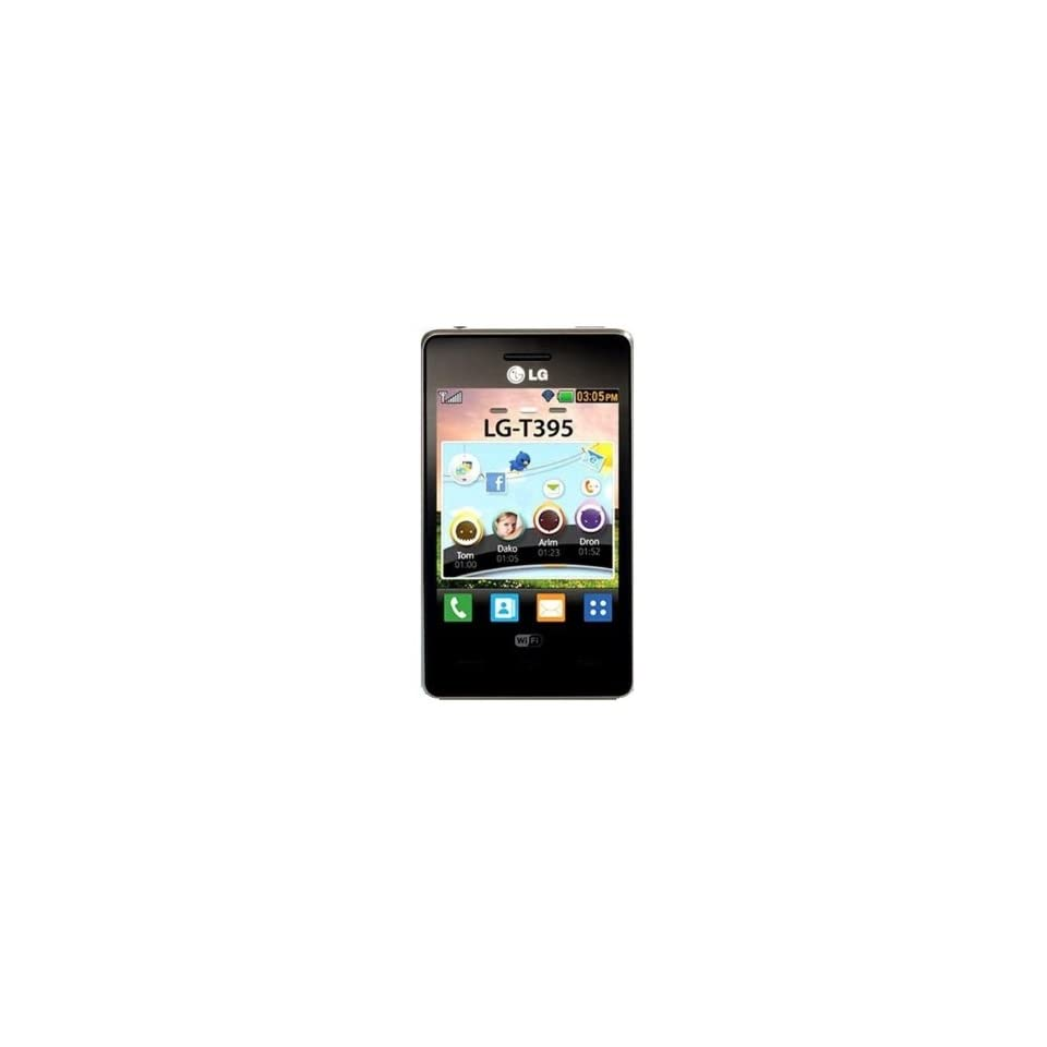LG Cookie T395 Unlocked GSM Phone with Touchscreen, Java OS, 3.2MP Camera, Wi Fi and Bluetooth   Black