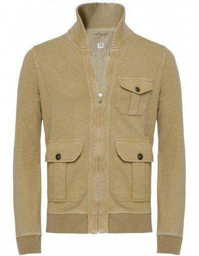 C. P. Company Men's Sweater Beige Zip Through Sweatshirt XL