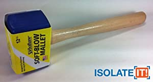 Isolate It!: Sorbothane Soft-blow Mallet for Automotive, Cabinetry, Carpentry and Glass Work