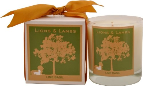 Aroma Paws 386 Lions and Lambs 12 Oz. Candle - Lime Basil