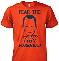 LoyalTee Fear the Forehead Large Orange T-Shirt