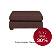 Medbourne Footstool - Leather