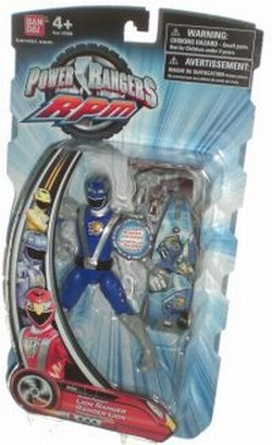 Picture of Bandai Blue RPM Power Rangers 5 Inch Figure (Accessories Vary) (B0029XOZ6G) (Power Rangers Action Figures)