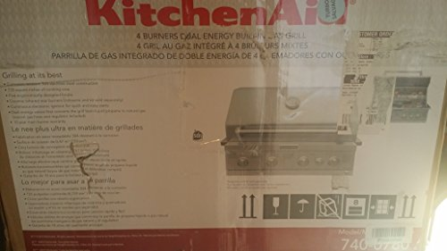 KitchenAid 4-Burner Built-In Stainless Steel Built-In Propane Gas Island Grill Head with Rotisserie Burner (Kitchen Aid Island Grill compare prices)