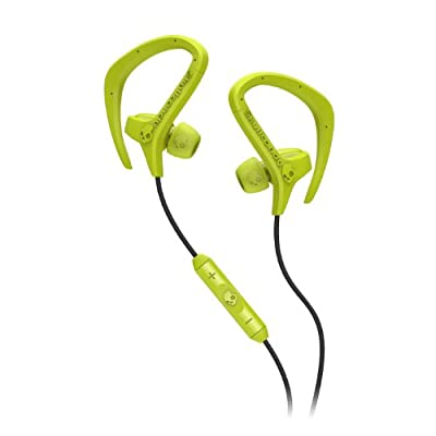 Skullcandy Chops with Mic3 Earphones/Earbuds Lifestyle Headphone - Hot Lime Green/Black