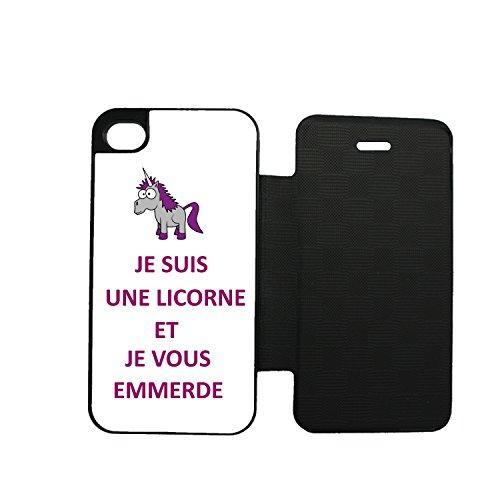 Aux-Prix-Canons-Etui-housse-folio-Humour-licorne-emmerde-iPhone-5-5S