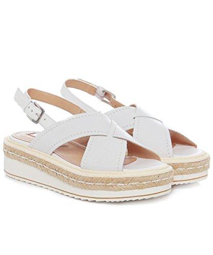 Peperosa Cracked Leather Cross Front Sandals EU39 / UK6 Bianco