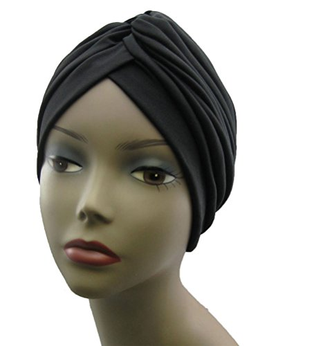 CoverYourHair Womens Black Head Turban