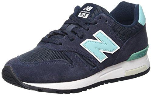 New Balance - 565, Zapatillas de Running Mujer, Multicolor (Navy/Mint), 38 EU
