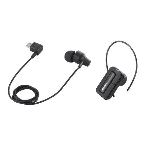 iBUFFALO 【iPhone5,iPhone4S,PC,Andoroid,携帯電話】片耳・両耳に対応し状況に応じて使い分けられる Bluetooth2.1ヘッドセット 片耳/両耳両対応 ブラック BSHSBE14BK