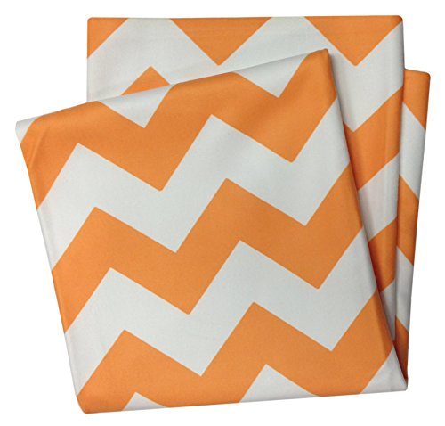 Mww Bright Orange White Chevron Zig Zag Soft Flannel Fleece Throw Blanket - 50X60 Inches