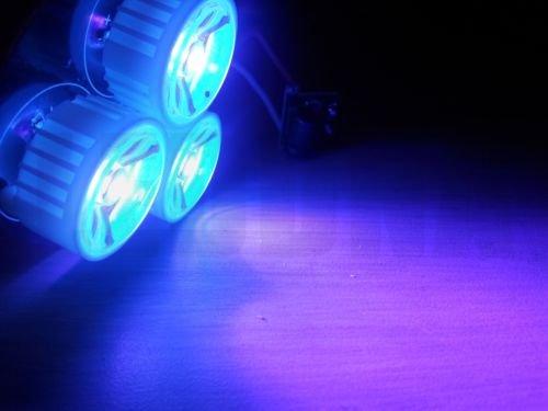 Diy 12V 3 X 3W Ultra Violet Uv Led 395Nm-400Nm Driver Heatsink