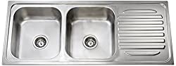 Jayna DBSD05 Mercury Double Bowl with Single Drain Board Sink