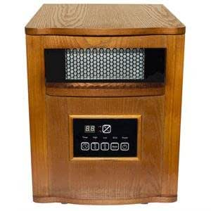 Small vintage portable infrared heater 6 tube wood cabinet this efficient space - Heating small spaces concept ...