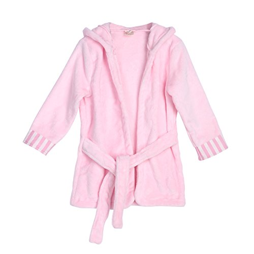 Diamondo Kids Baby Boys Girls Cute Rat Hoodie Bathrobe Soft Bathe Towel Wrap Blanket(Pink 90) (Pink, 90)