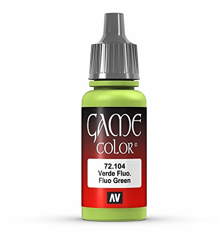 Vallejo Game Color Fluorescent Green Paint, 17ml