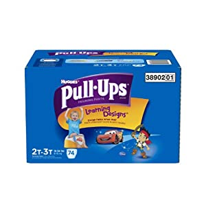 Huggies Pull-Ups Training Pants with Learning Designs for Boys, 2T-3T, 74 Count