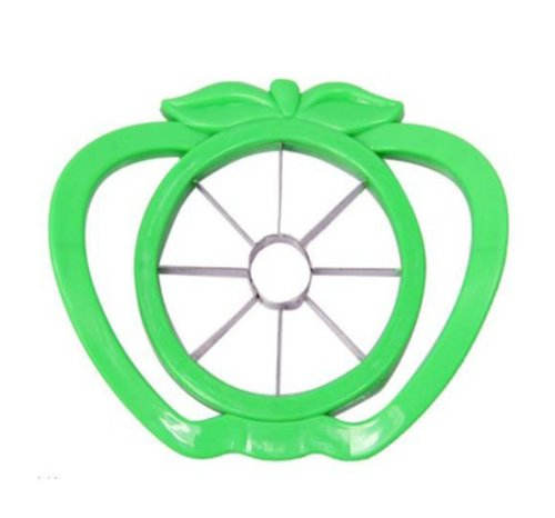 Niceeshop(Tm) Stainless Steel Plastic 8-Piece Apple Fruit Slicer Divider Corer Cutter House Comfortable Handle-Random Color front-960297