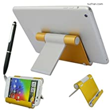 buy First2Savvv Golden Universal Multi-Angle Luxury Polished Stainless Steel Stand Dock Docking Station For Sony Xperia P With Stylus Pen