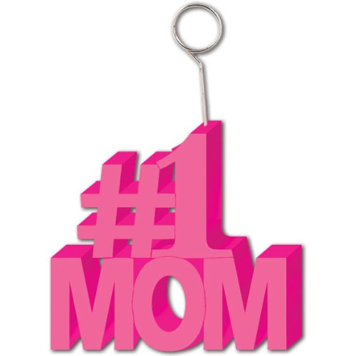 #1 Mom Photo/Balloon Holder Party Accessory (1 count) - 1