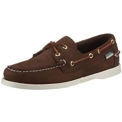 Sebago Docksides, Chaussures bateau homme - Marron (Dark Brown Nubuck), 39.5 EU