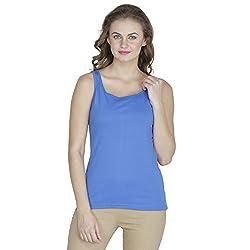RAMPWALK Women's Sleevless Top (FYIAW15-TP03-01-99-03-03, Blue, Small)