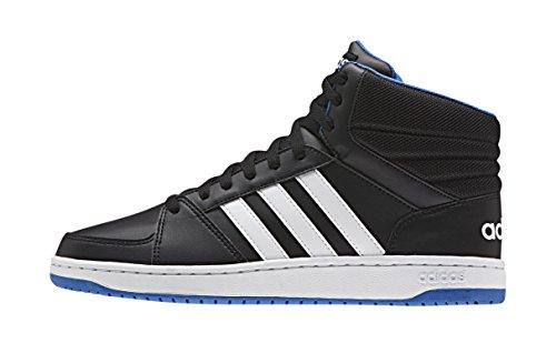 Adidas Hoops Vs Mid Scarpe da basketball, Uomo, Multicolore (Cblack/Ftwwht/Blue), 44