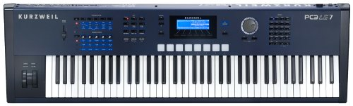 Kurzweil Pc3Le7 76 Note Performance Controller And Workstation Keyboard, Light Edition, Semi Weighted Action Keys, Blue And Black