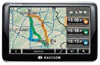 """Navigon 3300max ViaMichelin GPS France Ecran Tactile 4,3"""" Radars Antenne TMC Logiciel MobileNavigator 7 1 Go"""