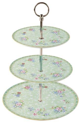 Ashdene Kensington Bone China 13-Inch Height 3 Tier Cake Stand in Gift Box