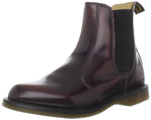 Dr. Martens Women's Flora Leather Burgundy Pull On Boots 14650601 8 UK