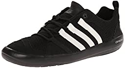 adidas Outdoor Unisex Climacool Boat Lace Water Shoe, Black/Chalk White/Silver Metallic, 11 M US