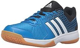adidas Performance Men\'s Ligra 4 Volleyball Shoe, Shock Blue White/Black, 7 M US