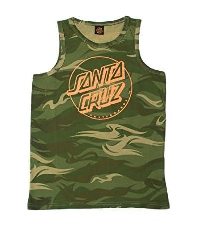 Santa Cruz Canotta Youth Camo Dot [Verde Militare]