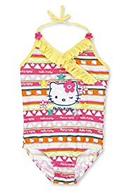 Hello Kitty Floral Appliqué Frill Swimsuit