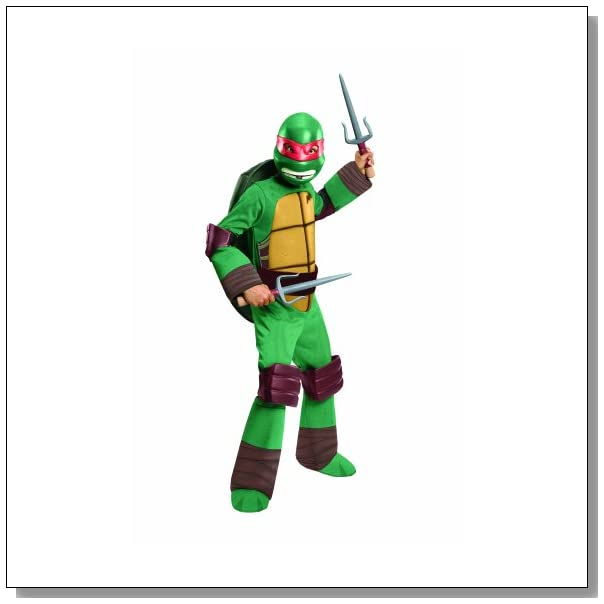 Teenage Mutant Ninja Turtles Deluxe Raphael Costume, Medium