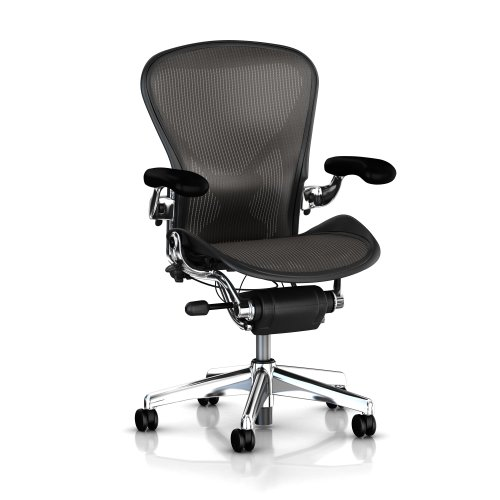 41zoNzWD2jL Executive Aeron Chair by Herman Miller   Polished Aluminum Frame   Carbon Classic Size C (Large)