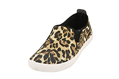 Globalite Women's Casual Shoes Lily Tiger Print GSC1151 UK/UN