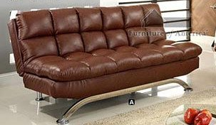 Aristo Bi Cast Leather Convertible Sofa Color Reddish Brown O Deals Nhat10thang54