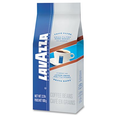 Lavazza 2440 Gran Filtro Dark Italian Roast Coffee, Whole Bean, 2.2 lb. Bag