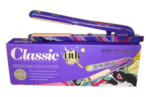 Corioliss Ink Collection Purple Dragon Dual Voltage 110v-240v Tourmaline Ceramic Hair Straightener / Flat Iron