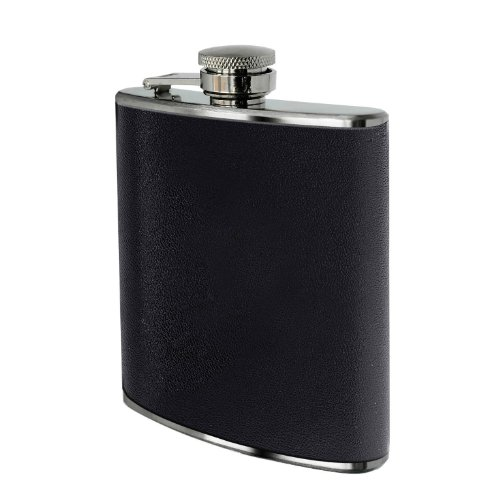 Premier Housewares Hip Flask, 8 oz, Black